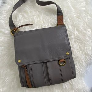 NWT Fossil Leather Crossbody Morgan Traveler Bag
